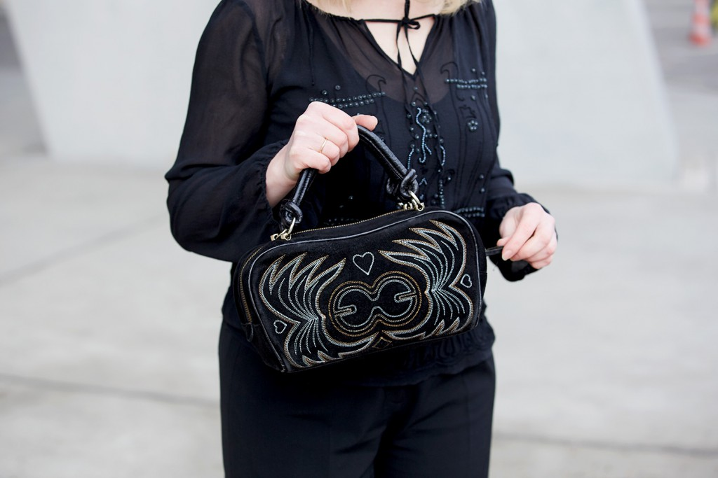 embroidery Escada bag