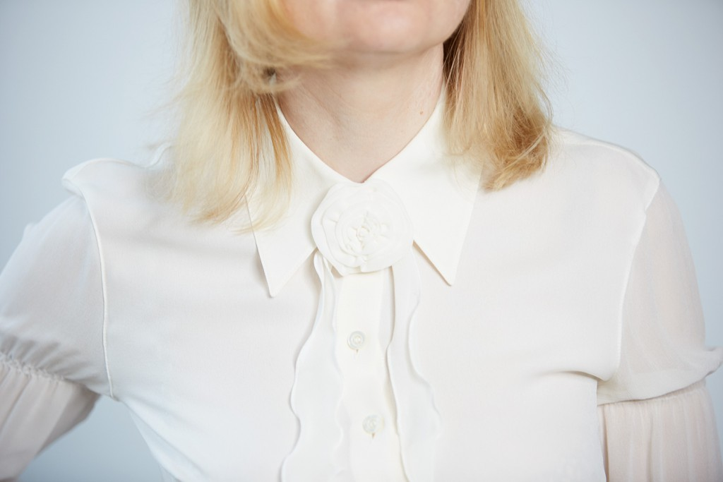 ruff blouse with bow
